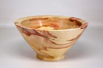 """Photo: Tim Aley 8 1/2"""" x 4 1/2"""" bowl [box elder]"""