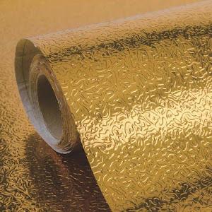Folie adeziva de aluminiu, 60 x 300 cm, Auriu