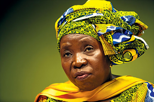 Nkosazana Dlamini-Zuma refuses to be interviewed about the ANC succession race. Pic: Simphiwe Nkwali