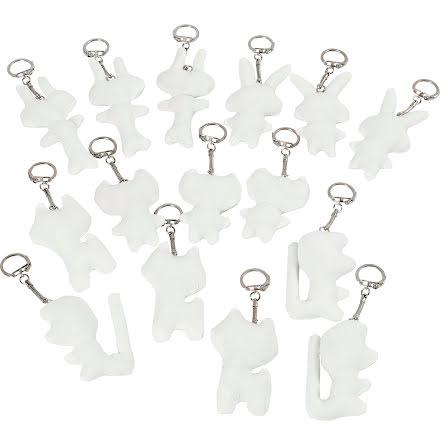 Textilfigurer & nyckelring 15f