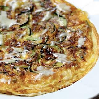 Individual Zucchini-Shallot Frittata.