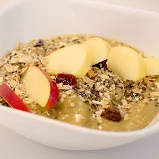 Nutty Apple, Mango, Banana Breakfast Bowl.