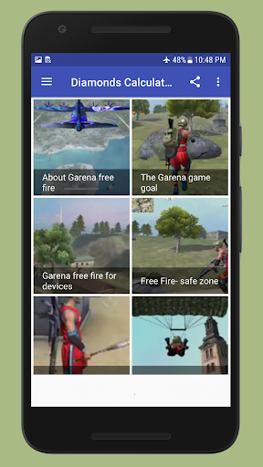 Diamonds Free Fire Calculator & Guide 1.0 screenshots 2