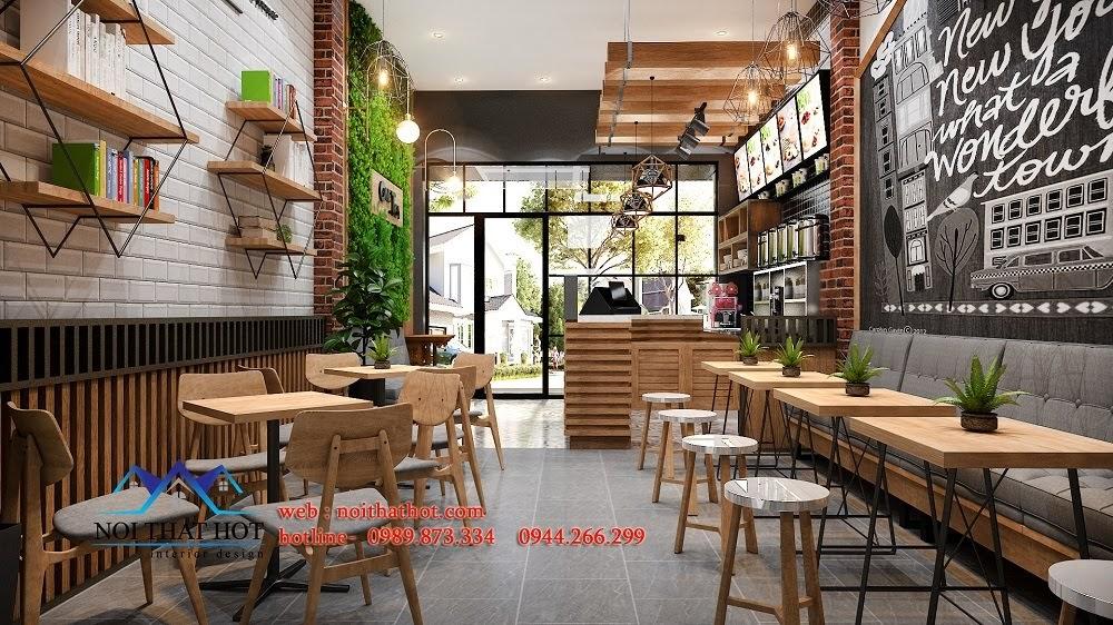 Thiết kế quán trà sữa nổi bật