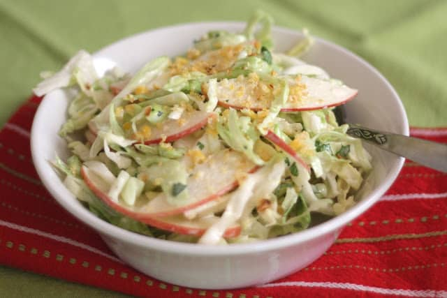 Sweet and Spicy Apple Coleslaw Recipe