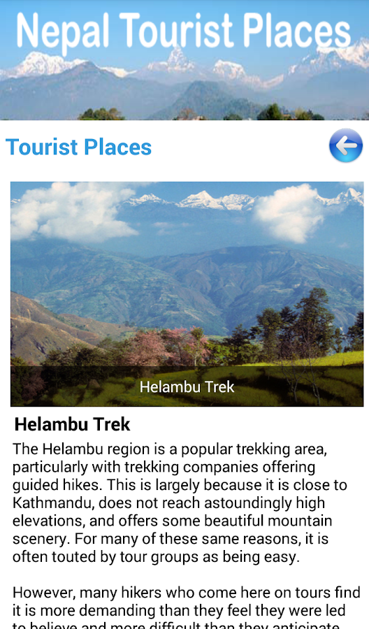 Nepal Tourist Places- screenshot