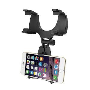 Suport telefon oglinda retrovizoare + Suport parbriz numar telefon