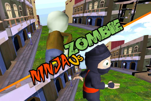 3D Zombie VS Ninja Sufers Run