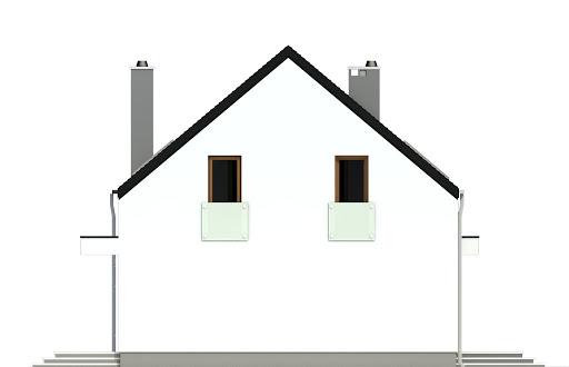 Sosnówka bez garażu B - Elewacja lewa