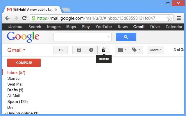Different Gmail Delete Button
