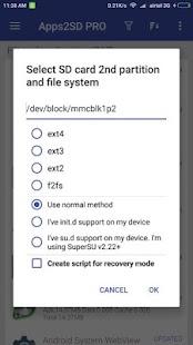 App2SD: Nástroj vše v jednom [ROOT] - náhled