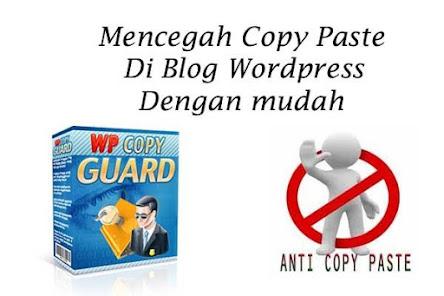 Mencegah Copy Paste Di Wordpress Dengan Plugin Copy Guard