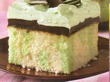 Creme De Menthe Fudge Cake