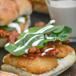 Bacon Alfredo Spinach Beer Battered Fish Fillet Sandwiches Recipe