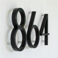 Hillman 5-in Ribbon Elevated-Mount House Number | Lowe's Canada