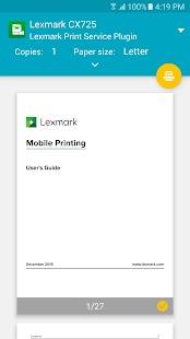 Lexmark Print Plugin - náhled