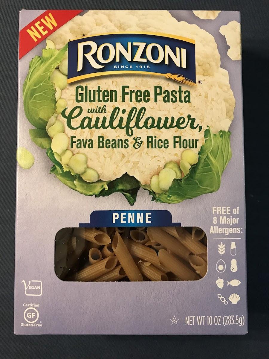 Gluten Free Pasta W/ Cauliflower, Fava Beans & Rice Flour