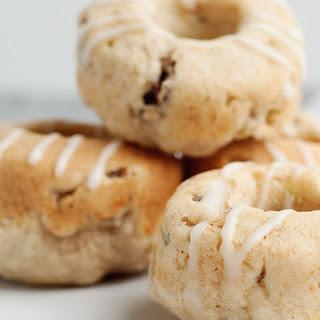 Baked Banana Nut Doughnuts with Vanilla Glaze.