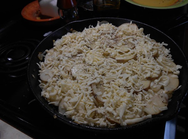 Place one more layer of potatoes on top.  Pour over the rest of...