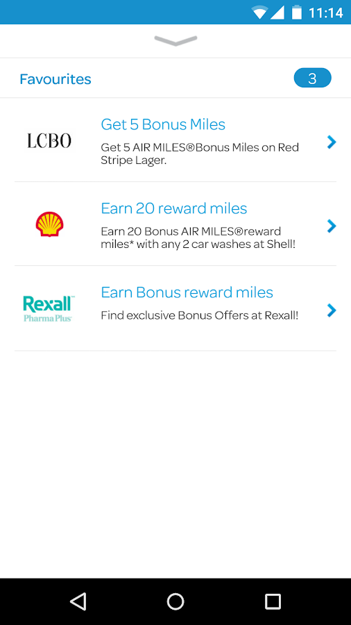AIR MILES® Reward Program- screenshot
