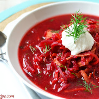 Chicken & Beet Soup (Borscht)