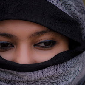 For your eyes only by Arghya Chatterjee - People Portraits of Women ( cloth, woman, hair, nose, eyes )