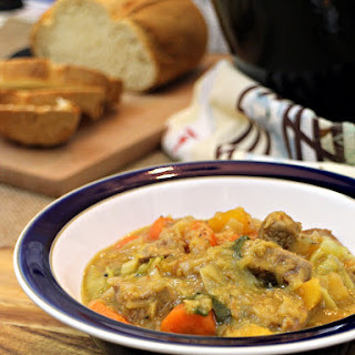 Lamb, Vegetable and Lentil Soup with Cabbage.