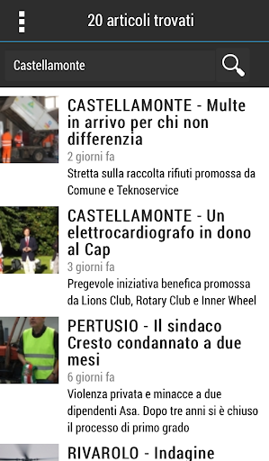 Capturas de pantalla de QC Quotidiano del Canavese 4