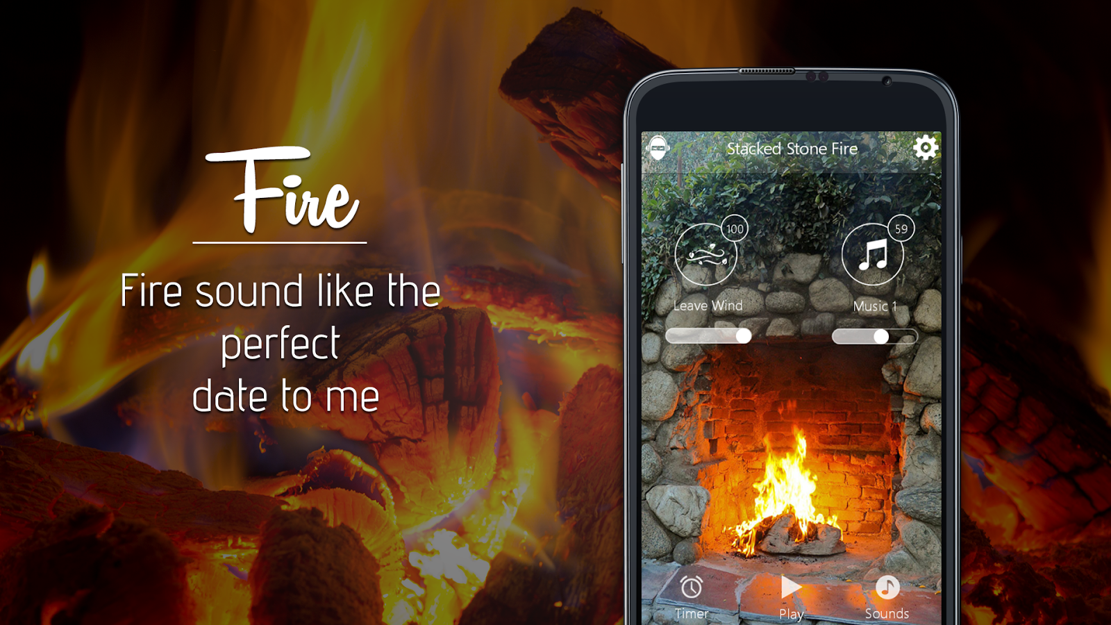 fireplace romantic fire screen android apps on google play