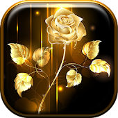 Golden Rose Live Wallpaper HD