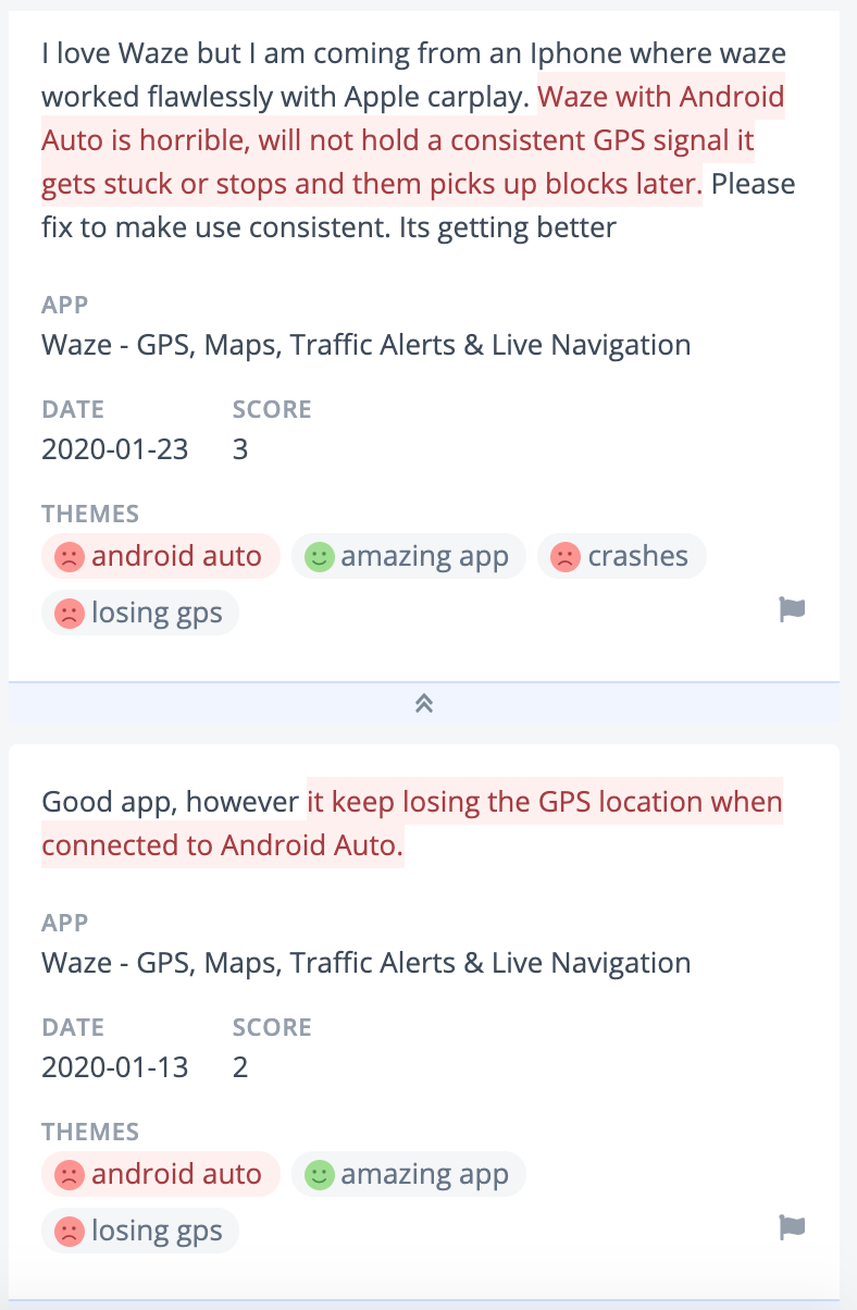 Waze losing gps customer feedback negative