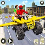 Modern Flying ATV Bike Simulator Taxi Driving Game icon