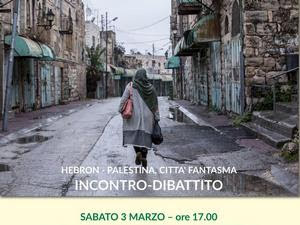 locandina Hebron palestina città fantasma