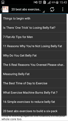 Belly Fat Exercises - screenshot