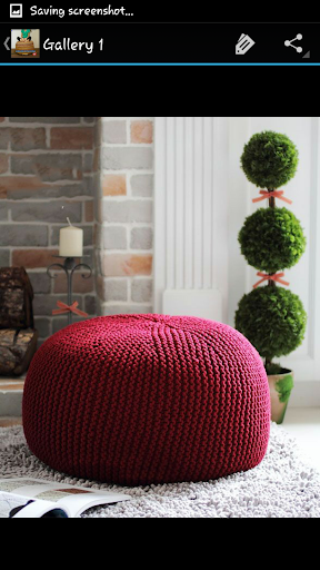 Crochet Pattern Pouf