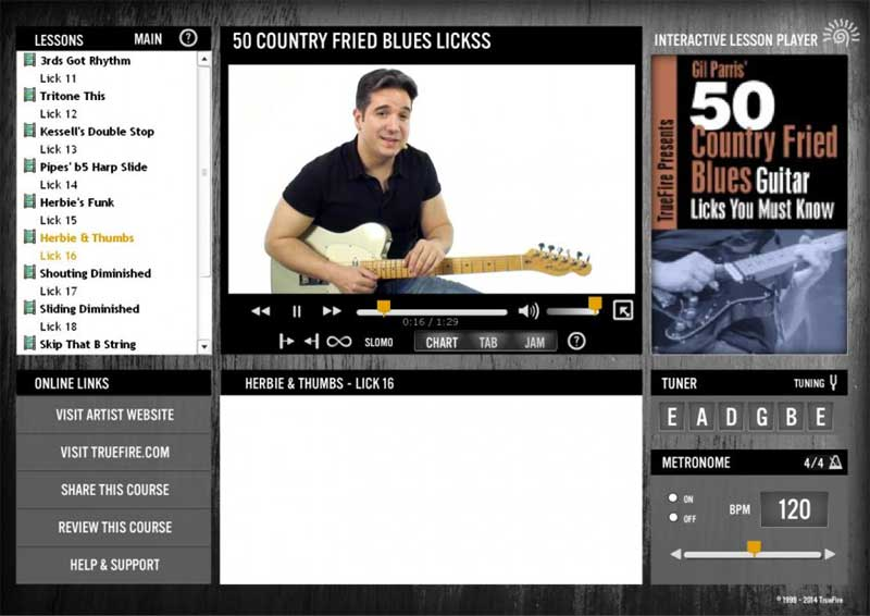 Gil Parris - 50 Country Fried Blues Licks You MUST Know
