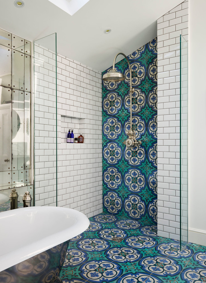 moroccan tile bathroom floors