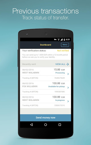 Western Union for Belgium, Luxembourg, Switzerland Applications (apk) téléchargement gratuit pour Android/PC/Windows screenshot