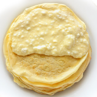 Baked Pancakes (Crepes) with Cottage Cheese.