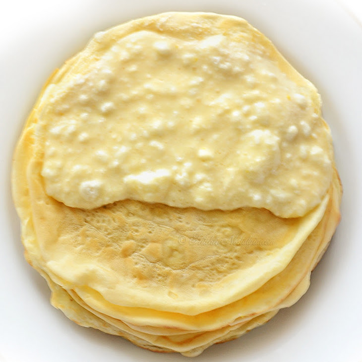 Baked Pancakes (Crepes) with Cottage Cheese