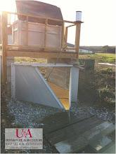 Photo: Pasture monitoring station utilizing flume (1-11-12)