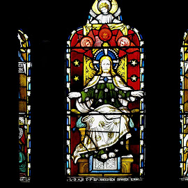 St. Andrew's Church 6 by Tina Stevens - Artistic Objects Glass ( scotland, reflection, christian, church, fort william, art, episcopal, object, stained, window, jesus, glass, artistic, religious, st. andrew's,  )
