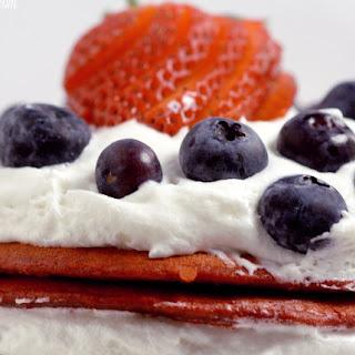 Red Velvet Berry Pancakes