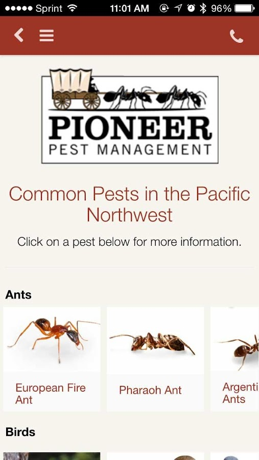 Pioneer Pest Management- screenshot