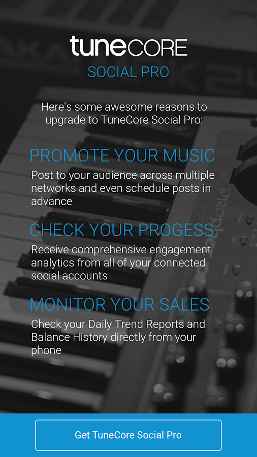 TuneCore Social- screenshot