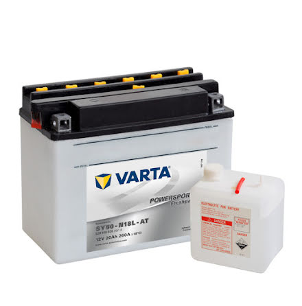 MC-batteri 20Ah Varta SY50-N18L-AT/12N18-3 lxbxh=205x90x162m