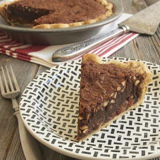 Caramel Peanut Butter Brownie Pie