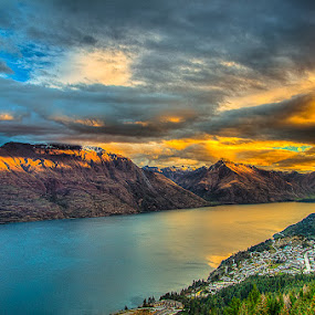 Queenstown Sunset by HP Tang - Landscapes Sunsets & Sunrises ( queenstown, sunset, landscape )