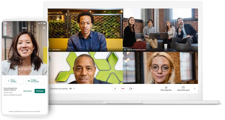 Reuniões em qualquer dispositivo
