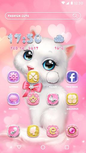 Cartoon Theme - Pink Kitty 1.0.4 screenshots 1
